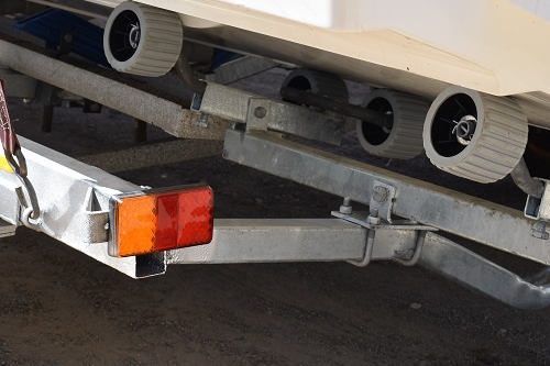 rear of trailer after the crossmember has been replaced