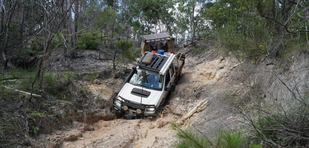 4WD with FELK Trailer base on The Old Telegraph Track, Cape York Peninsula, QLD